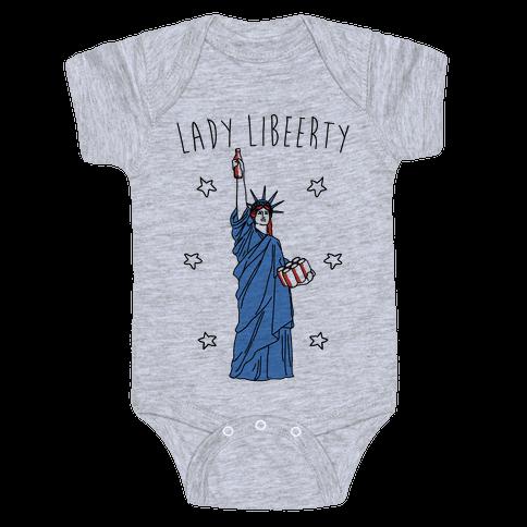 Lady Libeerty Baby Onesy