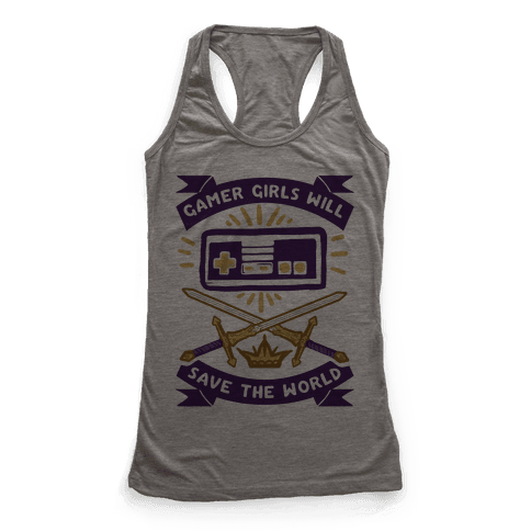 Gamer Girls Will Save The World Racerback Tank Top