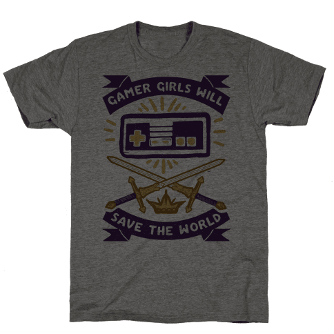 Gamer Girls Will Save The World Mens T-Shirt
