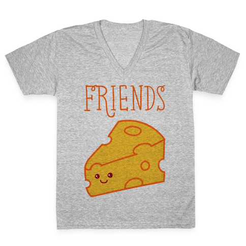 Best Friends Macaroni and Cheese 2 V-Neck Tee Shirt