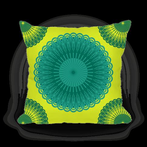 Green and Yellow Flower Mandala