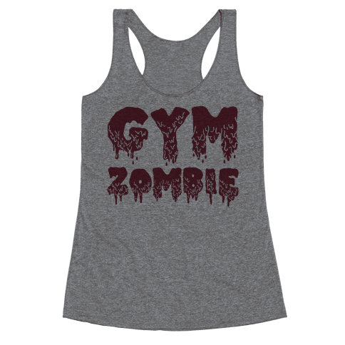 Gym Zombie Racerback Tank Top