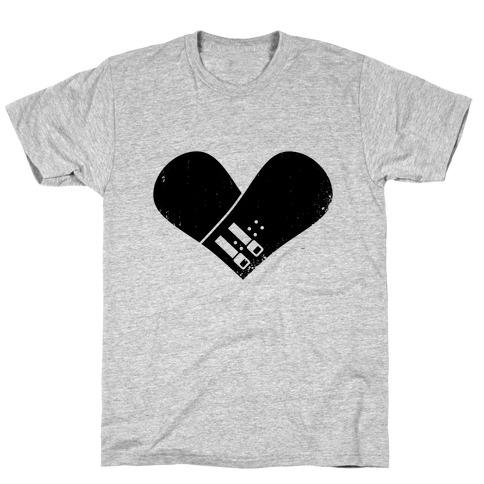Snowboard Heart T-Shirt