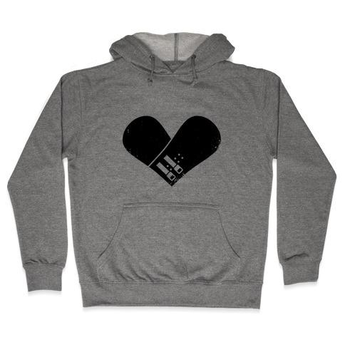 Snowboard Heart Hooded Sweatshirt