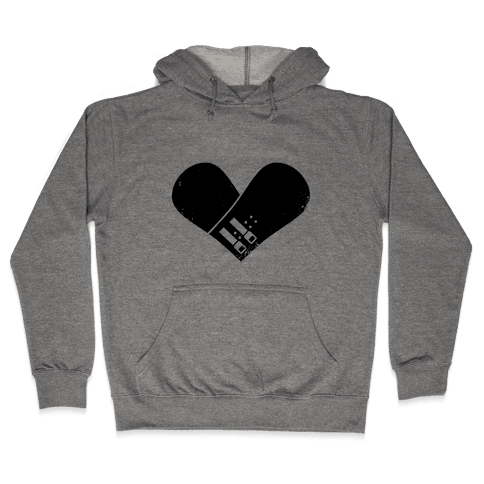 Snowboard Heart Hooded Sweatshirt
