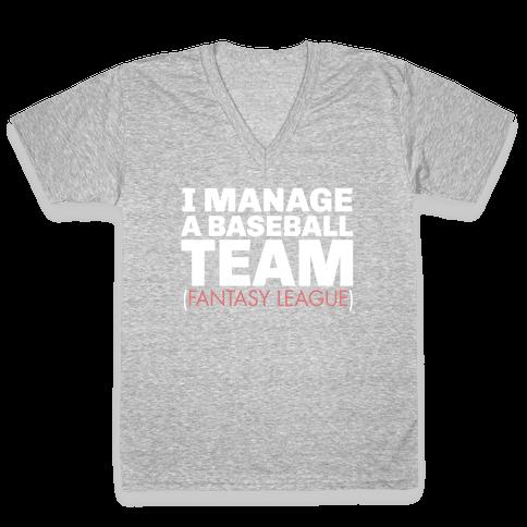 Baseball Manager V-Neck Tee Shirt