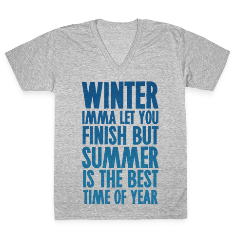 Winter Imma Let You Finish But Summer Is The Best Time Of Year V-Neck Tee Shirt