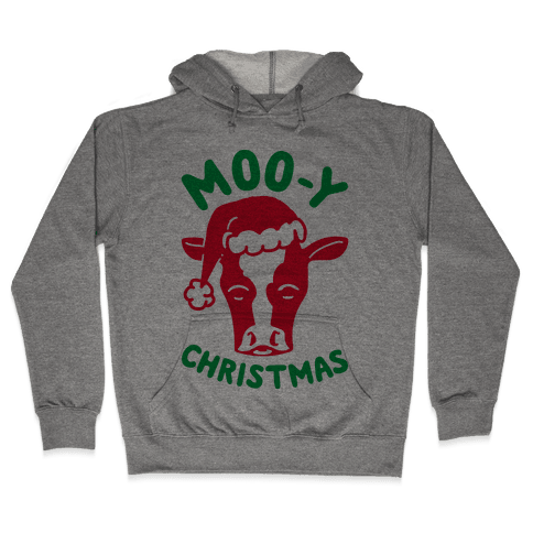 Moo-y Christmas  Hooded Sweatshirt
