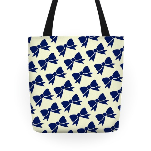 Blue Bow Pattern Tote
