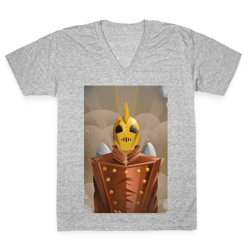 The Rocketing Hero V-Neck Tee Shirt