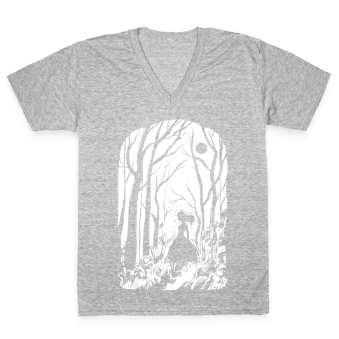 Ghost In The Woods V-Neck Tee Shirt