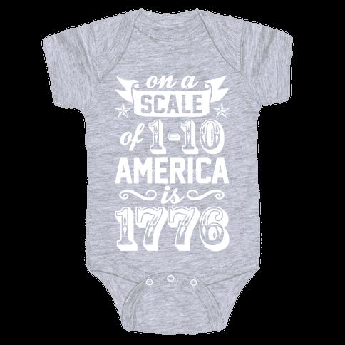 America Is 1776 Baby Onesy