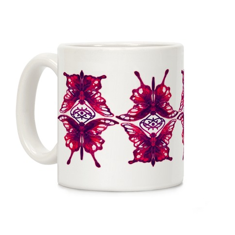 Crimson Butterflies Coffee Mug