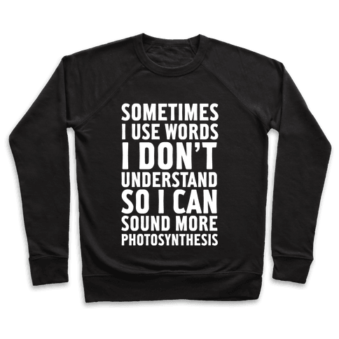 Sometimes I Use Words Pullover