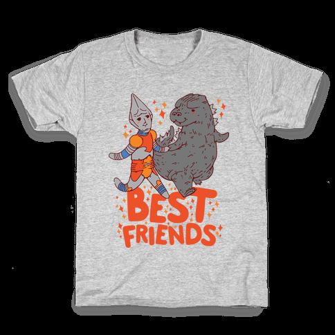 Best Friends Jet Jaguar & Godzilla Kids T-Shirt