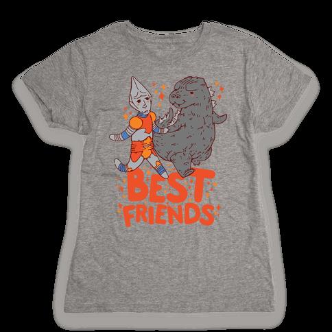 Best Friends Jet Jaguar & Godzilla Womens T-Shirt