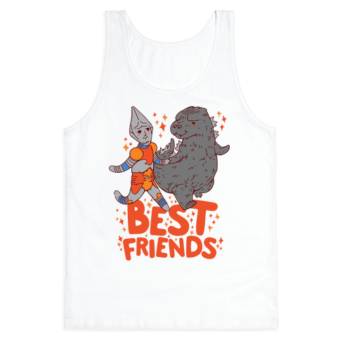 Best Friends Jet Jaguar & Godzilla Tank Top