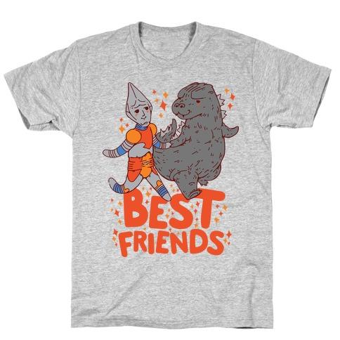 Best Friends Jet Jaguar & Godzilla T-Shirt