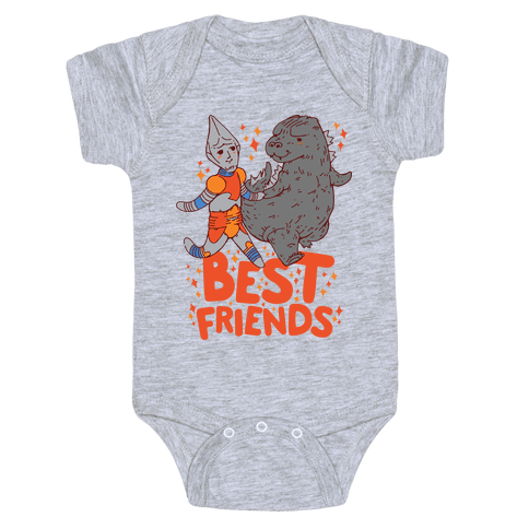 Best Friends Jet Jaguar & Godzilla Baby Onesy