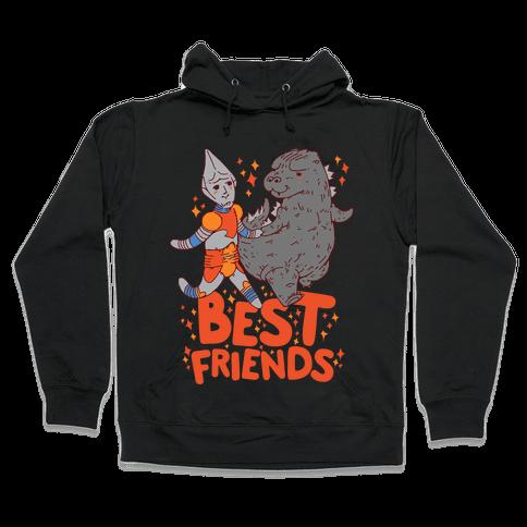 Best Friends Jet Jaguar & Godzilla Hooded Sweatshirt