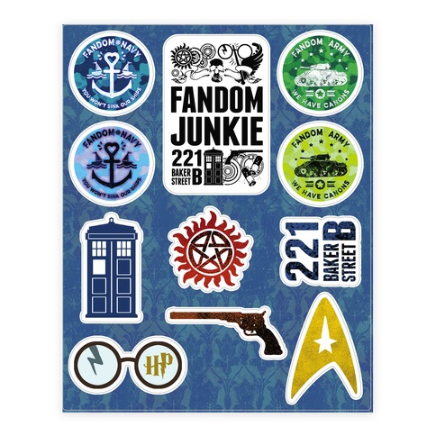 Fandom Junkie Sticker/Decal Sheet