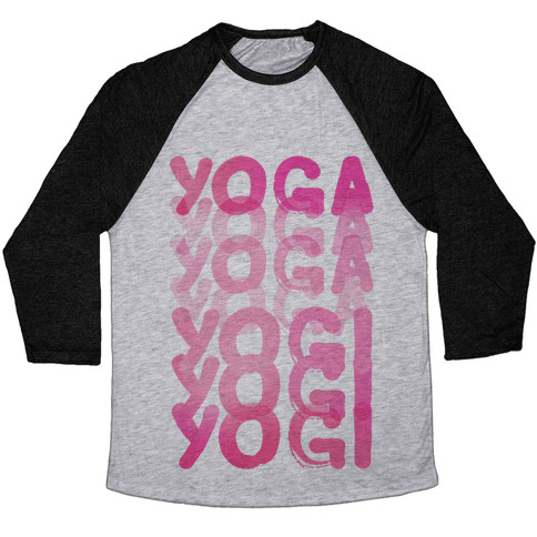 Yoga Into A Yogi Baseball Tee