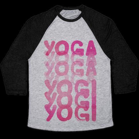 Yoga Into A Yogi Baseball Tee