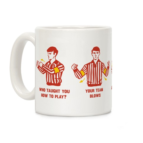 Funny Referee Hand Signals Coffee Mug