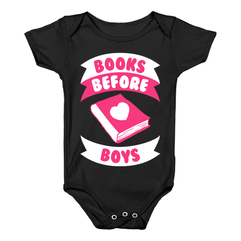Books Before Boys Baby Onesy