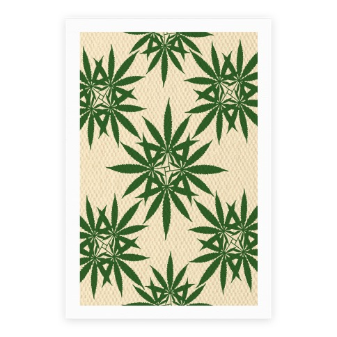 Weed Pattern Poster