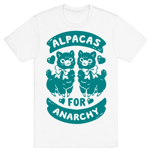 Alpacas For Anarchy Mens T-Shirt