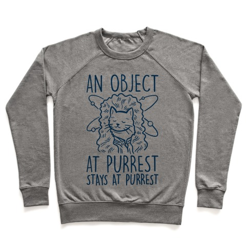 An Object At Purrest Stays At Purrest Pullover