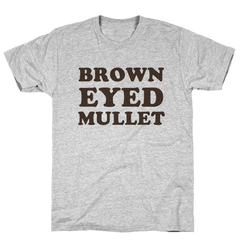 Brown-Eyed Mullet (v-neck) Mens T-Shirt