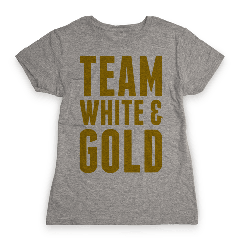 Team White And Gold Womens T-Shirt
