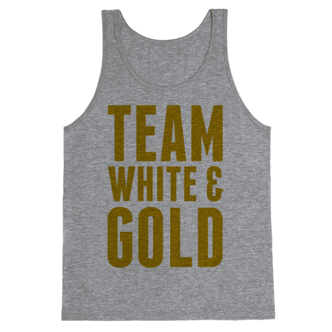 Team White And Gold Tank Top