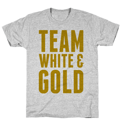 Team White And Gold Mens T-Shirt