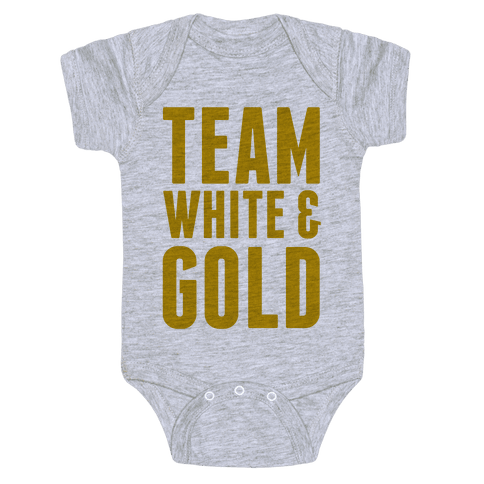 Team White And Gold Baby Onesy