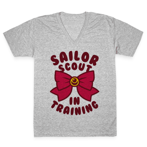 Sailor Scout In Training V-Neck Tee Shirt