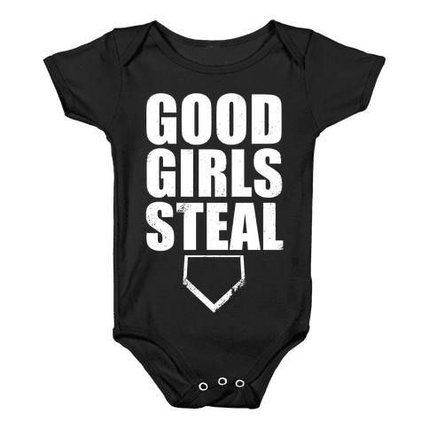 Good Girls Steal (White Ink) Baby Onesy