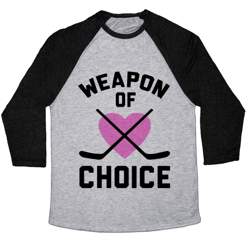 Weapon of Choice Baseball Tee