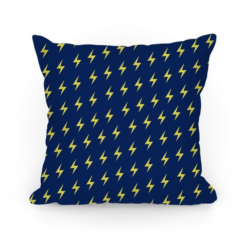 Ravenclaw House Lightning Bolt Pattern Pillow
