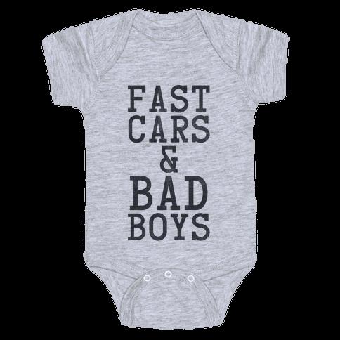Fast Cars & Bad Boys Baby Onesy