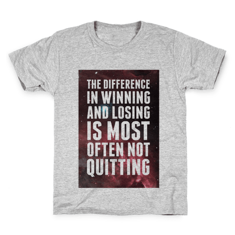 The Difference in Winning and Losing... Kids T-Shirt