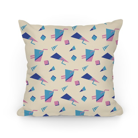 Cream 80s/90s Pattern Pillow