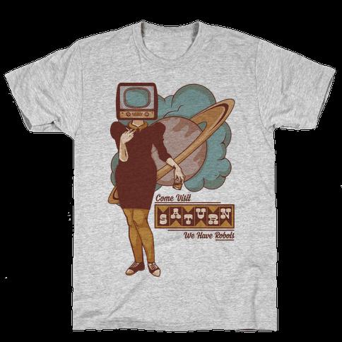 Come Visit Saturn Mens T-Shirt