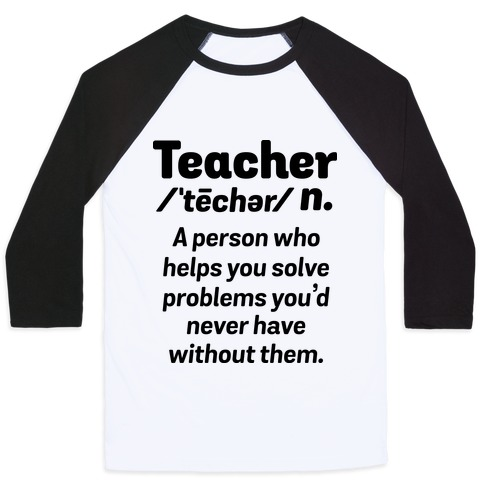 Teacher Definition Baseball Tee