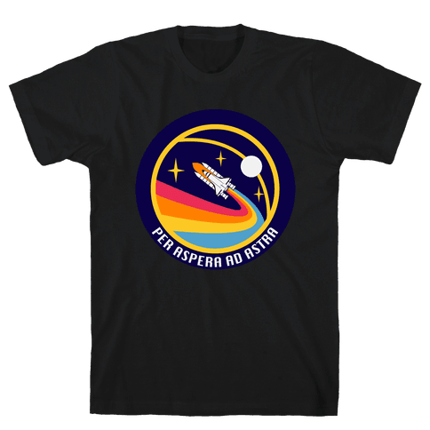 Per Aspera Ad Astra vintage Logo Mens T-Shirt