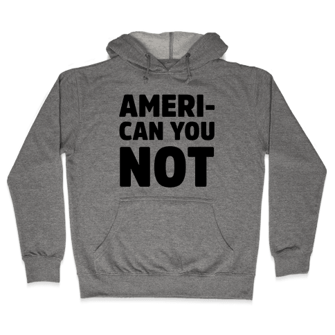 Ameri-Can You Not Hooded Sweatshirt