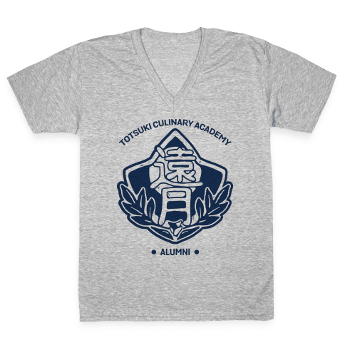 Totsuki Culinary Academy Alumni V-Neck Tee Shirt