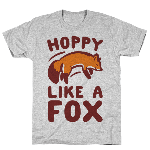 Hoppy Like A Fox Mens T-Shirt
